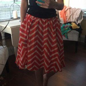 Orange chevron skirt (with pockets 😜)